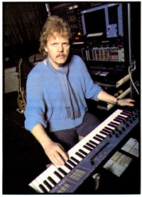 Edgar Froese of Tangerine Dream with his PPG rig