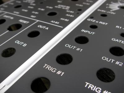 Custom modular synthesiser panels
